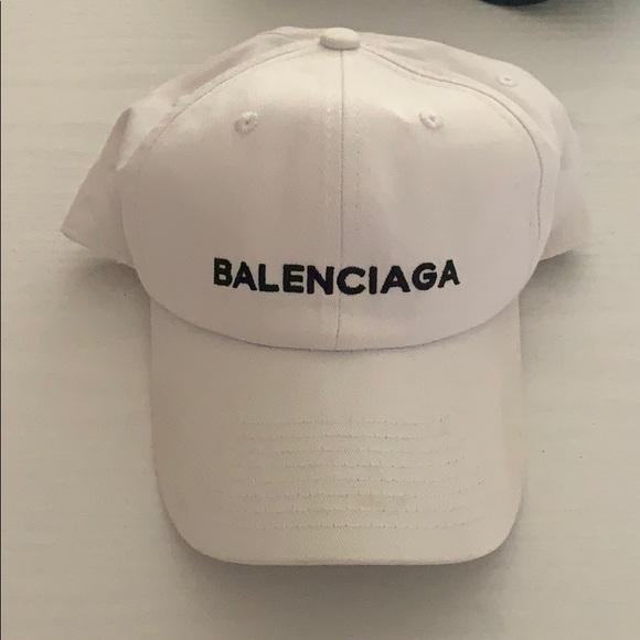 balenciaga white baseball hat